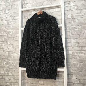 Lovers + Friends Black Night Sky Sweater Dress